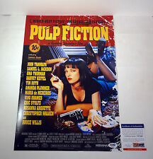 JOHN TRAVOLTA SIGNED AUTOGRAPH PULP FICTION MOVIE POSTER PSA/DNA COA #V27202