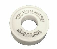 PTFE Tape White 12mm X 12m - Wras Approved Plumbing Seal Tape Plumbing Fittings