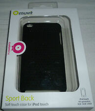 Muvit Sports Back Soft Touch Case For iPod Touch 4th Gen in Black