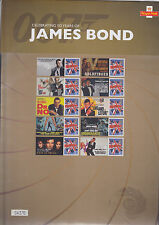 GB Stamps 2012   Smilers Sheet  James Bond    Limited Edition  Souvenier Pack