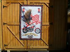 """Born In U.S.A. Wall Decoration 54"""" x 34"""" Banner w/ Motorcycle, Flag and Eagle"""