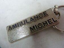 Porte-clés FER EMAILLE : AMBULANCE MICHEL - cs