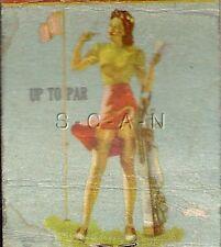 Vintage Semi Nude Advertising Matchbook Cover- Fox Lake- Park Manor Resort- Beer