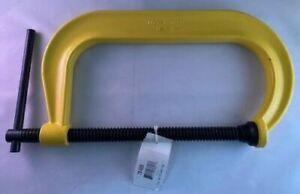 "Armstrong 78-608 8"" Capacity Deep Throat C-Clamp Pattern High Vis Yellow USA"