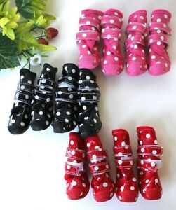 Waterproof Rain Snow Puppy Dog Shoes Boots Booties High Rubber For SMALL Pet