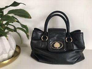 Oroton Bag Extra Large Tote Black Leather Designer Bag