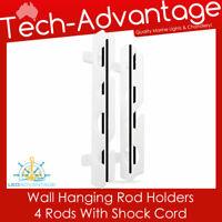 WHITE HORIZONTAL/VERTICAL HIGH-IMPACT POLYPROPYLENE WALL HANGING 4-ROD RACKS