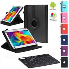 """For NuVision 7"""" 7.85"""" 8"""" 10.1"""" Tablets Bluetooth Keyboard +Universal Rotate Case"""