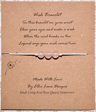 BN Wish/Friendship Natural Rose Quartz Gemstone wish bracelet Chakra Gift