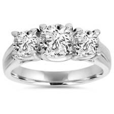 1ct Three Stone Diamond Ring Platinum