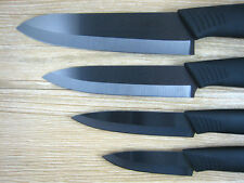 "Blade Sharp Ceramic Knife Set Chef's Kitchen Knives 3""4""5""6""+Covers Black HOT"