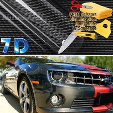 "48"" x 60"" Super Gloss 7D Black Carbon Fiber Vinyl Air Bubble Free 4ft x 5ft 6D"