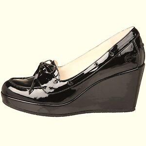 Exclusiv*Lacoste Damenschuhe Leder Pumps Plateau Schuhe Damen braun Shoko