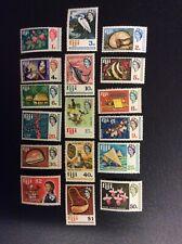1969 Fiji set of 17 Local Motives & QEII Decimals.