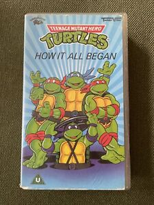 Teenage Mutant Hero Turtles: How It All Began VHS Video