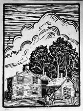 A famous artist studio/home original signed woodcut print.