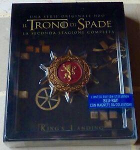 Il Trono di Spade seconda stagione limited edition steelbook blu-ray con magnete