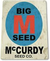 McCurdy Seeds Farm Cottage Barn Garden Rustic Retro Metal Decor Sign