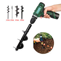 Spiral Drill Bit Flower Planter Earth Auger Electric Drill Modified Hole Digger