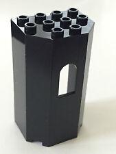 *NEW* 1 Piece Lego BLACK Panel 3x4x6 TURRET WALL with WINDOW
