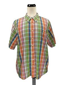 Scandia Woods Multicolor Striped Short Sleeve Button Up Shirt Size 2XL