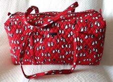 New Vera Bradley Large Duffel Travel Gym Bag in Playful Penguins Red #181013-552