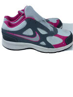 NIKE Advantage Runner 2 Girl's Gray Pink Running Shoes Size 6 YW 526324-002 New