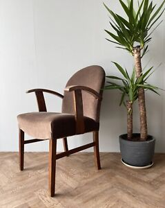 VINTAGE MID CENTURY HEALS UPHOLSTERED ARMCHAIR LOUNGE CHAIR SEAT DELIVERY