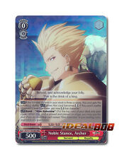 Weiss Schwarz Fate/Zero x 1 Noble Stance, Archer [FZ/S17-E058R RRR (FOIL)] Engli