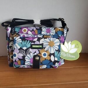 Lily Bloom FAR OUT FLORAL Cristina ECO Crossbody Bag NWT