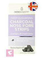SKIN ACADEMY DEEP CLEANSING CHARCOAL NOSE PORE STRIPS BLACKHEAD REMOVER