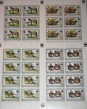 BURUNDI 1997 Klb 1834-37 MS 681-84 WWF Felis Serval CAROLOPHILEX 97 ovp MNH RR !