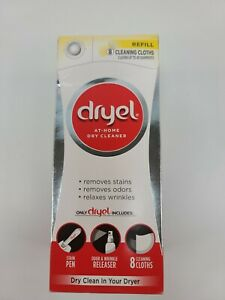BRAND NEW Dryel at-Home Dry Cleaner Refill Kit - 8 Loads Refill Kit Dry Clean