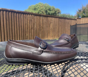 Nwob SALVATORE FERRAGAMO LEATHER Bit Driving Moc LOAFERS SHOES 6 EE