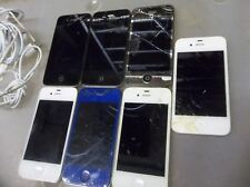 d23 Lot of 7 assorted iPhones: 4 & 4S Cracked & Other Issues Verizon Sprint ATT