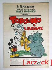 TOPOLINO supplemento a IL MESSAGGERO Topolino e l'elefante 12/8/89