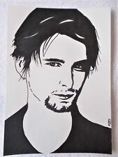 A4 Art Marker Pen Sketch Drawing Matt Bellamy from the band Muse Poster