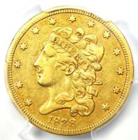 1838 Classic Gold Half Eagle $5 Coin - Certified PCGS VF30 - Rare Coin!