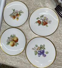 "New listing 4- VTG Hutschenreuther Selb Bavaria PASCO FRUIT Germany Porcelain Plates 6"""