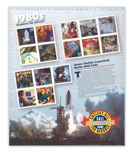 USA 1998 Celebrate the Century 1980s No.9 In A Series of Ten Sheets Stamps MUH