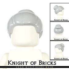 Lego Minifigure Hair LIGHT GRAY 93217 Female Girl Male Boy Top Knot Bun Samurai