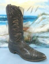 Nocona  Mens 22550 Western Cowboy Brown leather  Boot Size 11
