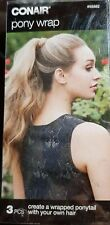 CONAIR 55882 PONY PONYTAIL WRAP TOOL USES YOUR OWN HAIR EASY INSTRUCTIONS