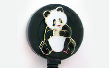 PANDA BEAR Retractable ID Card Holder Badge Reel Key Chain Security ring
