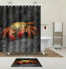 Riding Crab Waterproof Bathroom Polyester Shower Curtain Liner Water Resistant