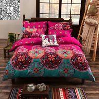 Mandala Bohemian Quilt/Duvet/Doona Cover Set Oriental Queen/King Single Size Bed