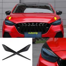 2017-2018 For Mazda 3 Carbon Fiber Look Front Headlight Lamp Eyebrows Trim 2pcs