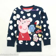 AUS Seller NEW with tags girls peppa polka sweater top navy size 3