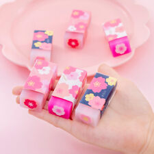 5 Pcs Cute Pencil Eraser School Supplies Stationery Child Day Gift Rubber