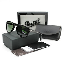 Persol 714 Folding Sunglasses 95/58 Black / Grey Green Polarized PO0714 54 mm